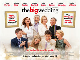Win a dvd bundle with The Big Wedding!