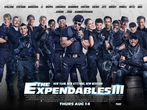 2 for 1 tickets to see The Expendables 3!