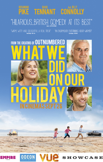 2-FOR-1 CINEMA TICKETS TO SEE 'WHAT WE DID ON OUR HOLIDAY'.
